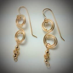 Gold Muti-Function Earring
