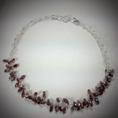 Purple Haze Crocheted Necklace -1831