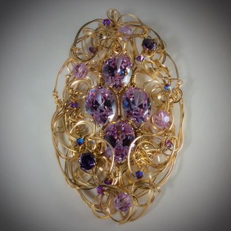 Lavender CZ Pendant - 1431