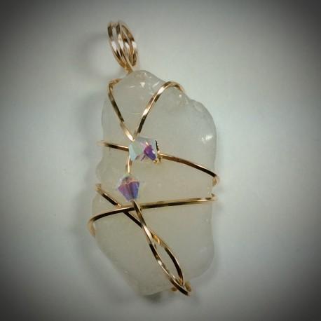 White Sea Glass - 2093