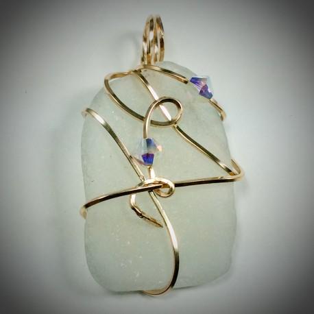 White Sea Glass - 2092