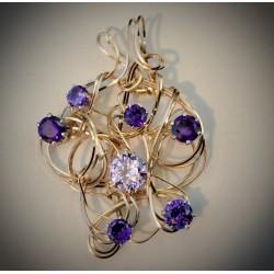 Violet and Lavender CZ - 2110