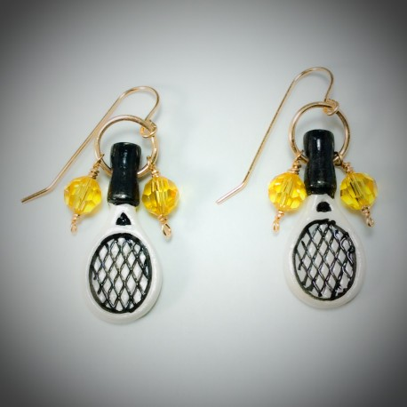 Tennis Rackets and Balls - 7662 - All Wired Up Jewelry