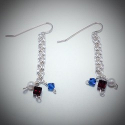 Patriotic Earrings - 2175