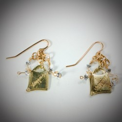 Gold Shopping Bag - 2195