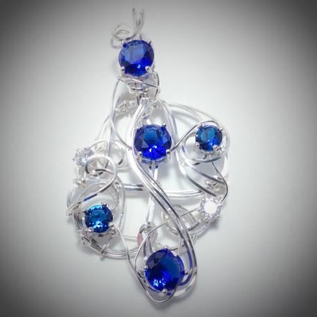 Blue Sapphire CZ 2205-2