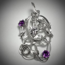 Violet and Clear CZ - 2214