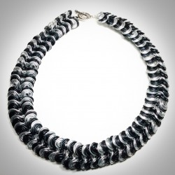 Black & Silver Necklace - 2271