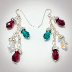 Christmas Light Bulb Earrings- 2397