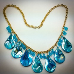 Blue Abalone Necklace - 2284