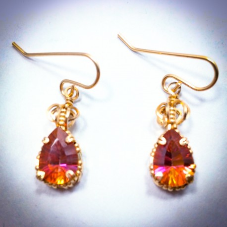 Gold Twilight Topaz Earring - 2228