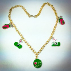 Love to Golf Necklace - 2338
