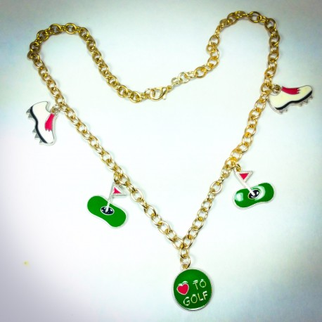 Love to Golf Necklace - 2339