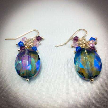 Mystic Topaz Crystal Earrings - 2369