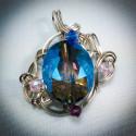Silver Crystal Topaz Pendant - 2370