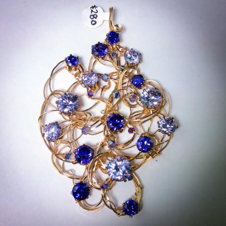 Amethyst & Lavender CZ Pendant - 1749