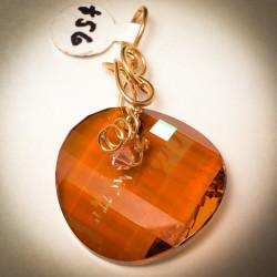 Swarovski Copper Pendant - 7628