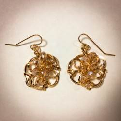 Golden Shadow Earrings - 2365