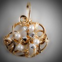 Gold Diamonds and Pearls Pendant