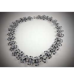Diamond Cut Aluminum Necklace